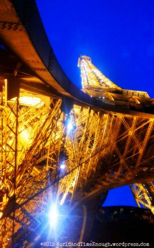 The Eiffel Tower sparkles with a light show every hour on the hour.